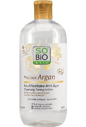 So'Bio Etic Organik Argan Yağı İçerikli Anti Aging Misel Su 500 ml.
