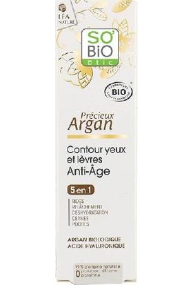 So'Bio Etic Organik Argan Yağı İçerikli Anti Aging Göz ve Dudak Çevresi Kremi 15 ml.