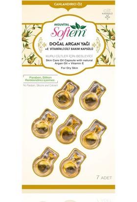 Softem Doğal Argan Yağlı +E Vitaminli Cilt Bakım Kapsülü