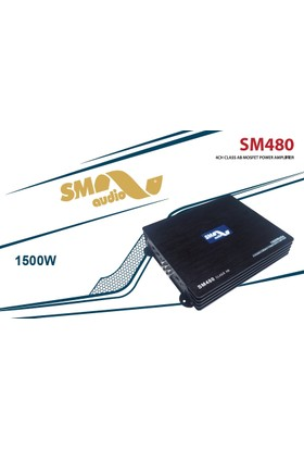 Sm Audıo Sm 480 4 Kanal 1500 Watt Amplifikatör