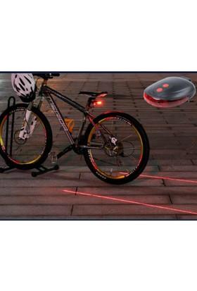 PeakBays Lazer Güvenlik Şeritli Bisiklet Stop Lambası