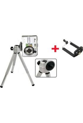 PeakBays Mini Teleskopik Tripod + Telefon Başlığı Hediyeli