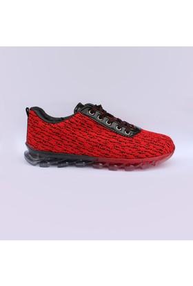 Avonni Kırmızı Siyah Bayan Spor Ayakkabı