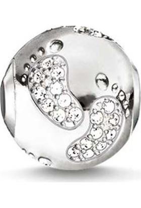 Angemiel Gümüş Renk Ayak İzi Figürlü Charm
