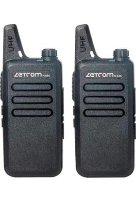 Zetcom Pmr N446 Lisanssız El Telsizi (2'Li Set)