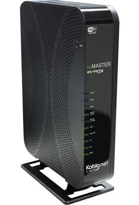 Netmaster Infinity 401 Docsis 3.0 24x8 802.11n/ac Kablosuz VoIP (Kablonet/Uydunet) Modem