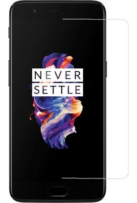 Teleplus OnePlus 5 Plastik ve Cam Ekran Koruyucu Karışımı Cam Ekran Koruyucu