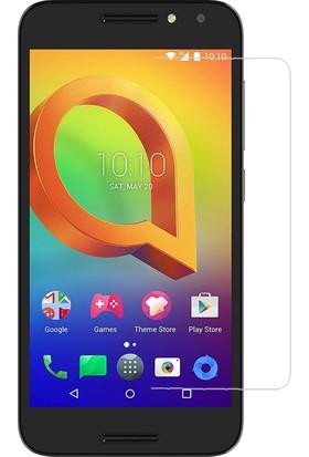 Teleplus Alcatel A3 Plastik ve Cam Ekran Koruyucu Karışımlı Nano Cam Ekran Koruyucu