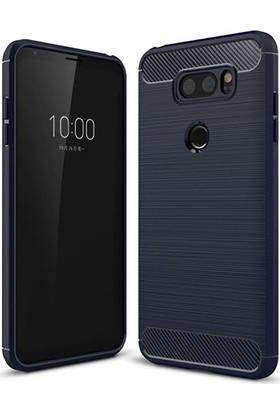 Teleplus LG V30 Özel Karbon ve Silikonlu Kılıf