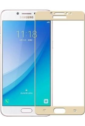 Teleplus Samsung Galaxy C5 Pro TAM Kapatan Cam Ekran Koruyucu
