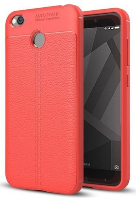 Teleplus Xiaomi Redmi 4X Suni Deri Dokulu Silikon