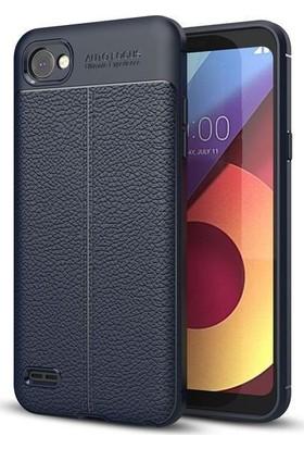 Teleplus LG Q6 Suni Deri Dokulu Silikon Kılıf