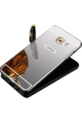 Teleplus Samsung Galaxy C7 Pro Aynalı Metal Kapak Kılıf