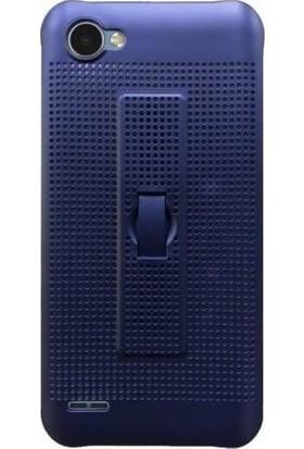 Teleplus LG Q6 Delikli Silikon Standlı Kapak Kılıf