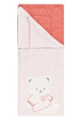 Taç Bear Pembe Pamuklu Bebek Battaniyesi