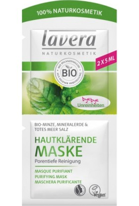 Lavera Purifying Cleansing Mask- Organic Mint, Mineral Clay & Dead Sea Salt 2x5 ml.