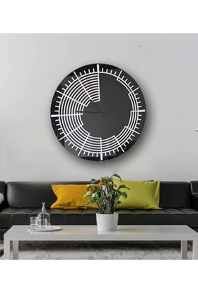 Time Saat Siyah Cam