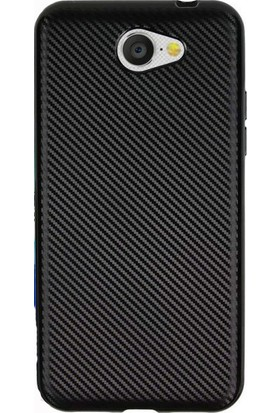 Happyshop General Mobile Gm6 Kılıf Karbon Desenli Silikon + Cam