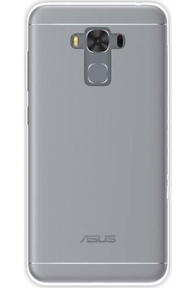 Happyshop Asus Zenfone 3 Max 5.5inç Ze553Kl Kılıf Ultra İnce Şeffaf Silikon + Cam
