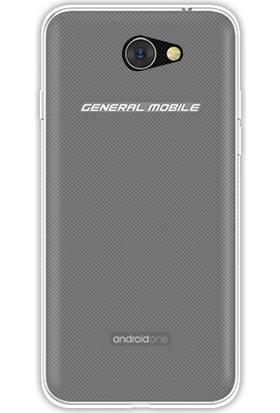 Happyshop General Mobile Gm6 Kılıf Ultra İnce Şeffaf Silikon + Kırılaz Cam