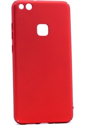 Happyshop Huawei P10 Lite Kılıf İnce Sert Arka Kapak Rubber + Cam