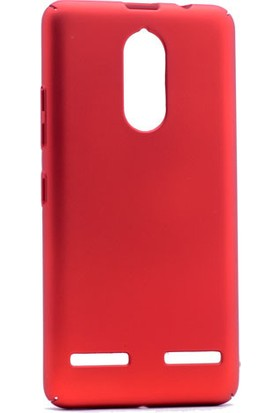 Happyshop Lenovo K6 Kılıf Sert Arka Kapak Rubber + Cam