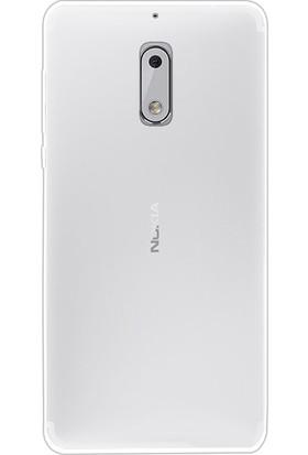 Happyshop Nokia 6 Kılıf Ultra İnce Şeffaf Silikon + Cam