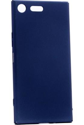 Happyshop Sony Xperia Xz Premium Kılıf İnce Sert Arka Kapak Rubber + Cam