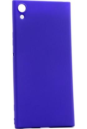 Happyshop Sony Xperia Xa1 Ultra Kılıf İnce Mat Silikon + Cam