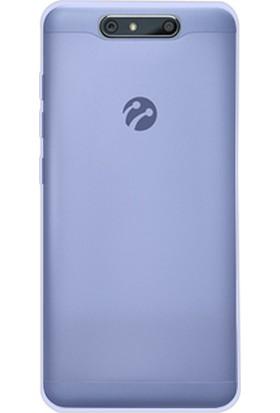 Happyshop Turkcell T80 Kılıf Ultra İnce Şeffaf Silikon + Cam