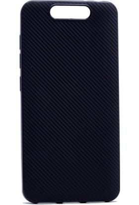 Happyshop Turkcell T80 Kılıf Karbon Desenli Silikon + Cam