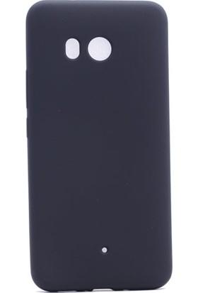 Happyshop Htc U11 Kılıf İnce Mat Soft Silikon + Cam