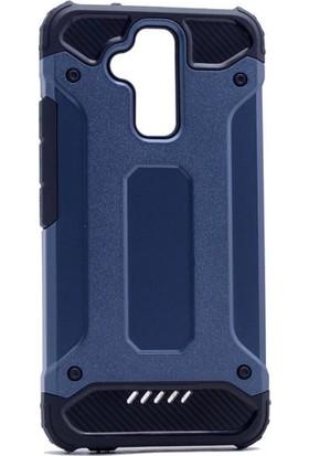 Happyshop Asus Zenfone 3 Max 5.2'' Zc520Tl Kılıf Çift Katmanlı Armour Case + Cam