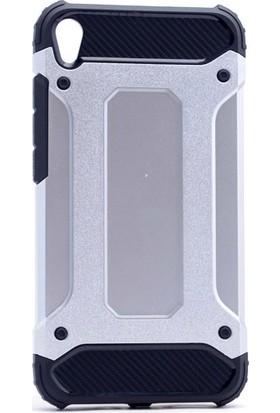Happyshop Asus Zenfone 3 Live Zb501Kl Kılıf Çift Katmanlı Armour Case + Cam