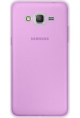 Happyshop Samsung Galaxy J7 Max Kılıf Ultra İnce Şeffaf Silikon + Cam