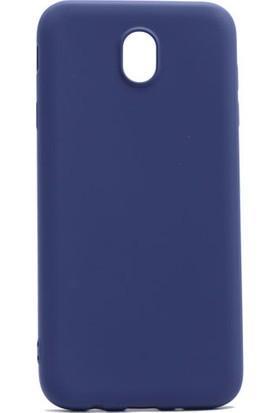Happyshop Samsung Galaxy J3 Pro J330 Kılıf Ultra İnce Mat Silikon + Cam