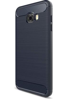 Happyshop Samsung Galaxy C7 Pro Kılıf Ultra Korumalı Room Silikon + Cam