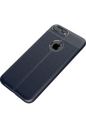 Happyshop Apple iPhone 6 Plus-6S Plus Kılıf Deri Görünümlü Lux Niss Silikon + Cam