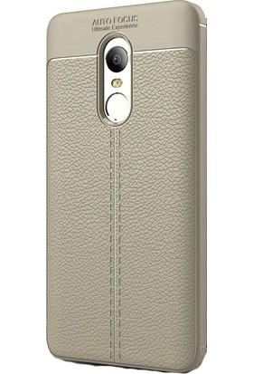 Happyshop Xiaomi Redmi Note 4X Kılıf Deri Görünümlü Lux Niss Silikon + Cam