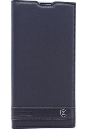Happyshop Asus Zenfone 4 Ze554Kl Kılıf Gizli Mıknatıslı Kapaklı + Cam