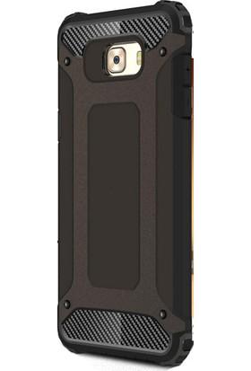Happyshop Samsung Galaxy C5 Pro Kılıf Ultra Korumalı Çift Katmanlı Armour Case + Cam