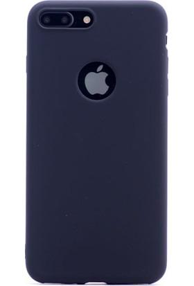 Happyshop Apple iPhone 8 Plus Kılıf Ultra İnce Mat Silikon + Cam