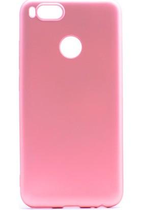 Happyshop Xiaomi Mi5X Kılıf Ultra İnce Mat Silikon + Cam