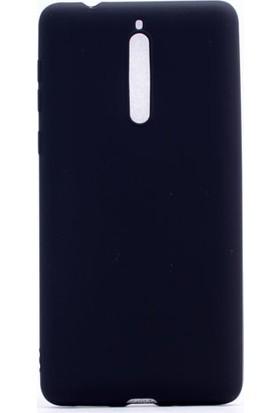Happyshop Nokia 8 Kılıf Ultra İnce Mat Silikon + Cam
