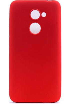 Happyshop Alcatel A3 Kılıf Ultra İnce Mat Silikon + Cam