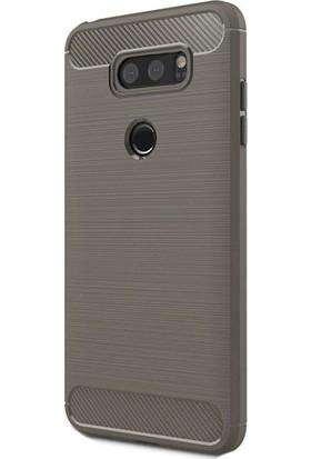 Happyshop Lg V30 Kılıf Ultra Korumalı Room Silikon + Cam