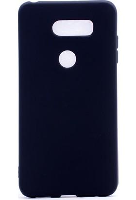 Happyshop Lg V30 Kılıf Ultra İnce Mat Silikon + Cam