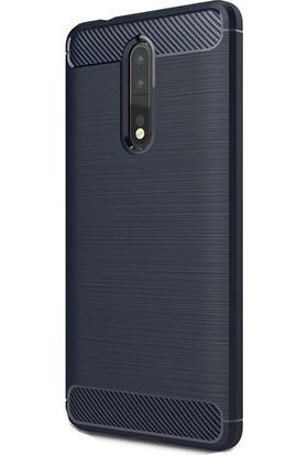 Happyshop Nokia 8 Kılıf Ultra Korumalı Room Silikon + Cam
