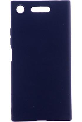 Happyshop Sony Xperia Xz1 Kılıf Ultra İnce Mat Silikon + Cam