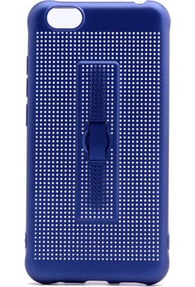 Happyshop Vestel Venus E3 Kılıf Fileli Standlı Yüzüklü Silikon + Cam